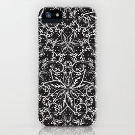 B&W decorative pattern iPhone Case