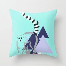Strepsirrhini Throw Pillow