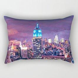 Empire State Building Feeling Like A Blue Giant Rectangular Pillow