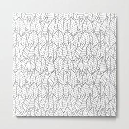 Botanics Gray Outline Metal Print