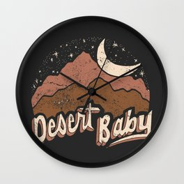 DESERT BABY Wall Clock