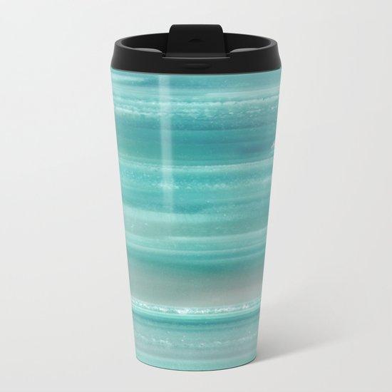 Turquoise Geode Metal Travel Mug