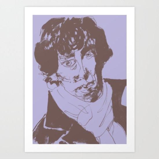 Geek Hero Lavender Art Print