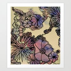 Retro Abstraction Art Print