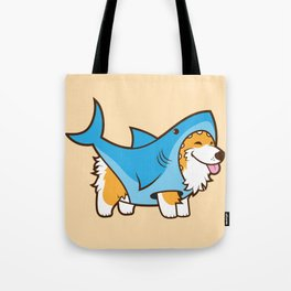 Corgi in a Shark Suit Tote Bag