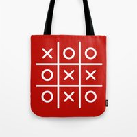 game Tote Bags featuring Game by lilmissjacqui