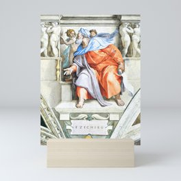 "Michelangelo Buonarroti  ""Prophet Ezekiel"" Mini Art Print"