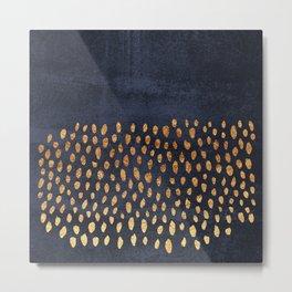 Pattern Play / Navy & Gold Metal Print