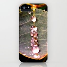 Water Drops Leaf iPhone Case