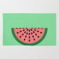 watermelon Area & Throw Rugs featuring Watermelon by Karolis Butenas