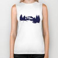 robin hood Biker Tanks featuring Mt. Hood by Leah Flores