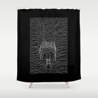 joy division Shower Curtains featuring Frank Division by Billy Allison