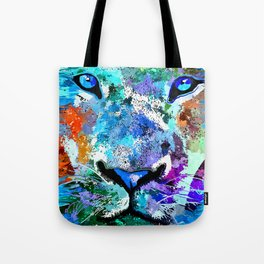Wild Water Lion Tote Bag