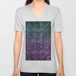 Purple Aqua MERMAID Glitter Scales Dream #1 #shiny #decor #art #society6 Unisex V-Neck