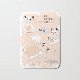 Hungry Cat Bath Mat