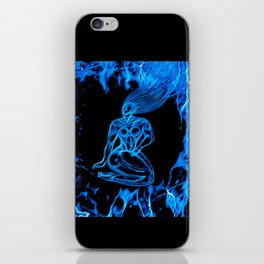 Blue Fire iPhone Skin