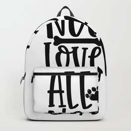 all you need is love and cat Backpack