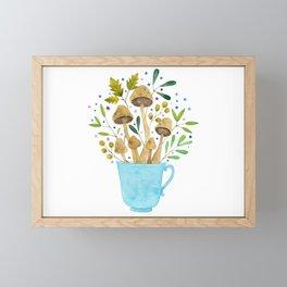 Relaxing Shrooms Framed Mini Art Print