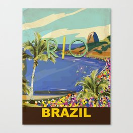 Rio Vintage Travel Poster Canvas Print