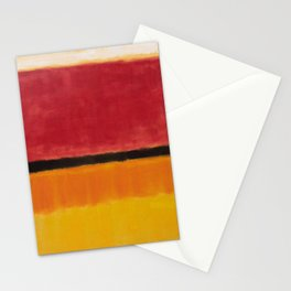 1949 Untitled (Violet, Black, Orange, Yellow on White and Red) by Mark Rothko Stationery Cards