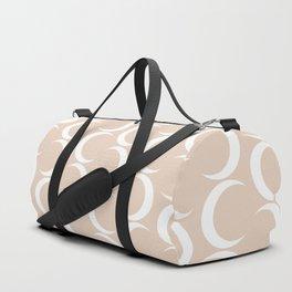 Crescent Moon Pattern - Warm Pink Duffle Bag