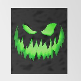 Evil Green ghost Throw Blanket