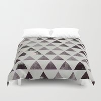 triangles Duvet Covers featuring triangles. by Georgiana Paraschiv