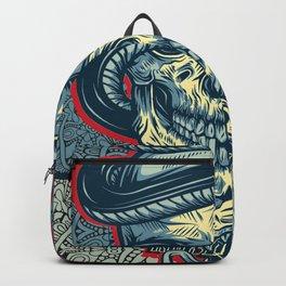 Rubino Logo Tattoo Skull Backpack