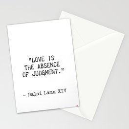 Dalai Lama quote Stationery Cards