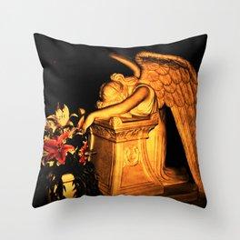 Night Angel dark Throw Pillow