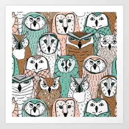 owls limited Art Print