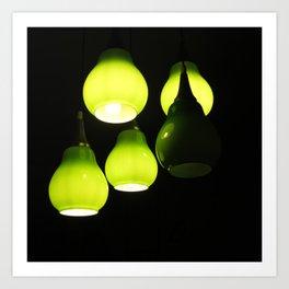 Green Lamps Art Print