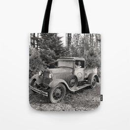 Buck Nasty's Moonshine Model A Ford Vintage Truck Skeleton Tote Bag