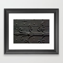 Ancient door Framed Art Print