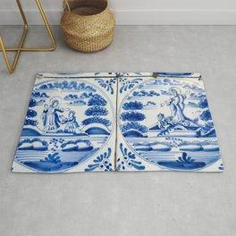 Old Delftware blue tiles Rug