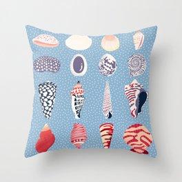 Shells - sea treasures Throw Pillow