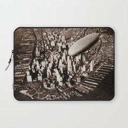 USS Akron Flying Over New York City - Circa 1932 Laptop Sleeve