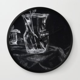 Glass Vases Wall Clock