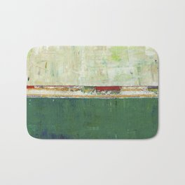 Limerick Irish Ireland Abstract Green Modern Art Landscape Bath Mat