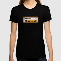 Retro Orange guitar electric amp amplifier iPhone 4 4s 5 5s 5c, ipad, tshirt, mugs and pillow case Black Womens Fitted Tee LARGE