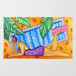 Papaya pool Rug