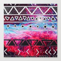 aztec Canvas Prints featuring AZTEC by UDIN