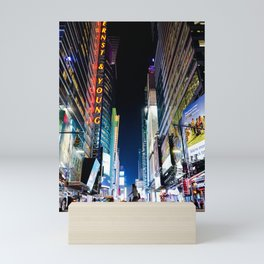 Crossing The Street in Times Square Mini Art Print