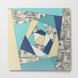 Colorful Currency Collage Metal Print