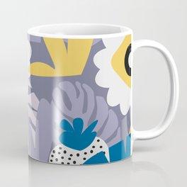 Purple botany with funny strawberries Coffee Mug
