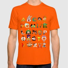 That's Alphabet Folks X-LARGE Mens Fitted Tee Orange