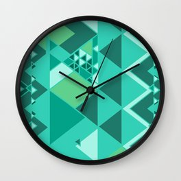 lily pad triangles Wall Clock
