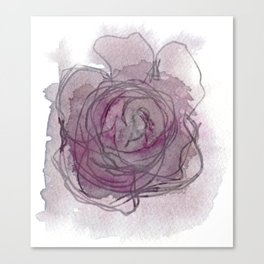 Rose - Abstract Watercolour Canvas Print