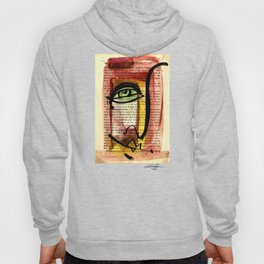 "Funky Face Abstract, ""I See 35"" by Kathy morton Stanion Hoody"