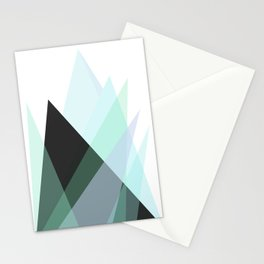 Minimalist Abstract Blue Mountains  Stationery Cards